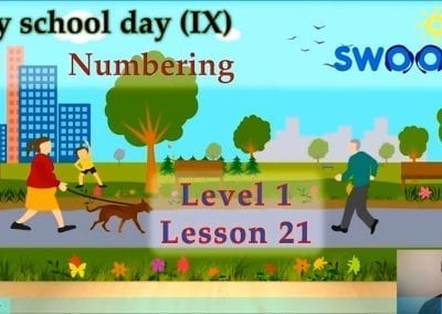Level 1 Lesson 21: My School Day X_Numbering