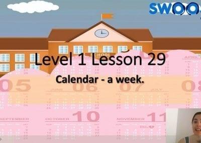 Level 1 Lesson 29: Calendar