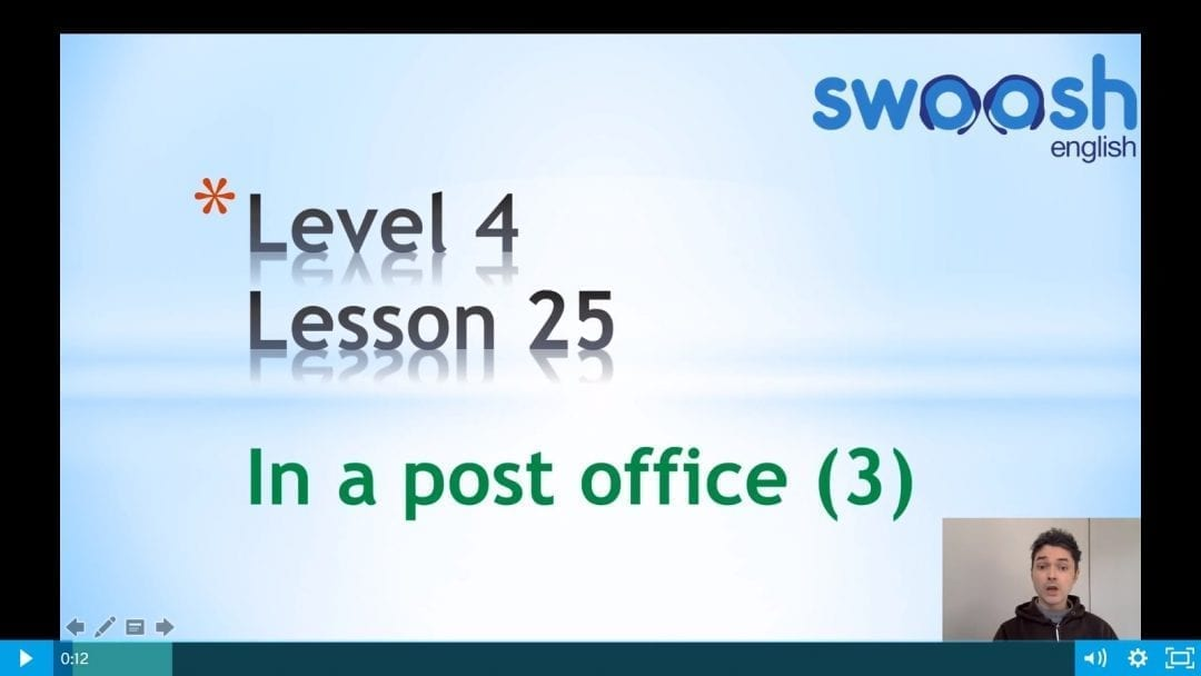 Level 4 Lesson 25: In a post office III