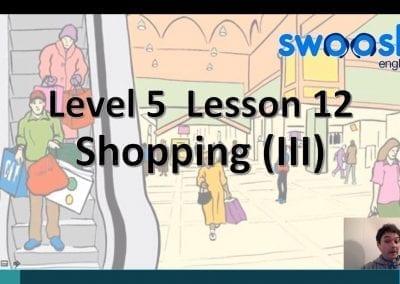 Level 5 Lesson 12: Shopping III