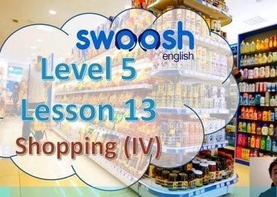 Level 5 Lesson 13: Shopping IV