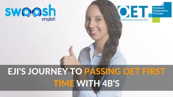 Eji's Journey to Passing OET First Time with 4B's