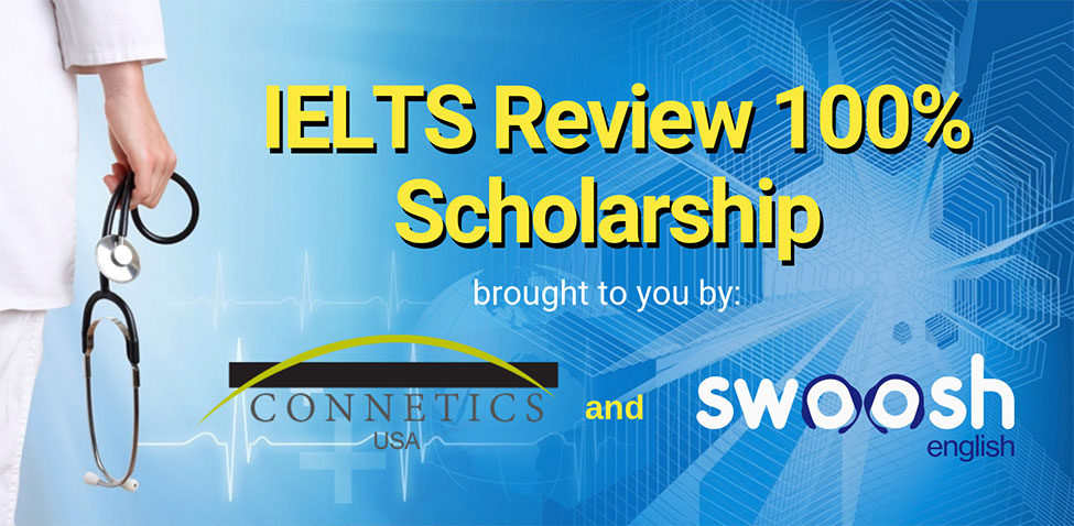 IELTS Review 100% Scholarship Image Banner